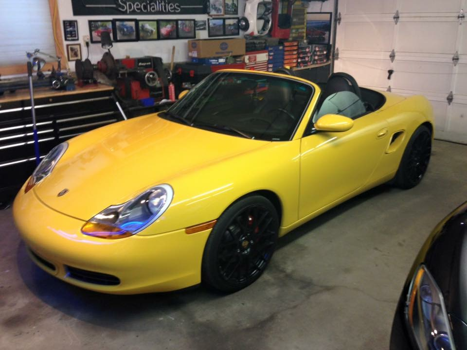 Boxster S in for Convertible top repairs