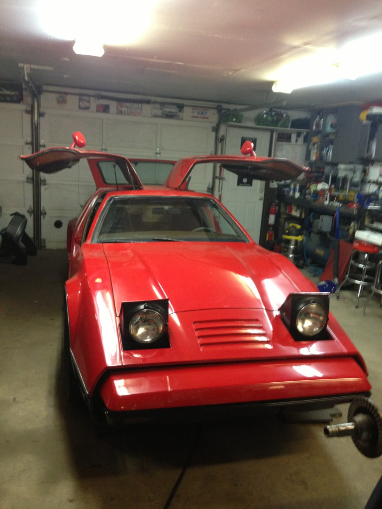Bricklin SV1 in for brake service